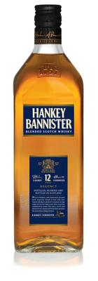 Hankey Bannister 12 Years Old. Опыт многих поколений был объединён для производства этого хорошо сбалансированного виски, отличительное качество которого заключается в опытном купажировании превосходных шотландских виски, специально отобранных из лучших ингредиентов. Этот виски цвета золотого янтаря с красноватым оттенком имеет лёгкий, сладковатый аромат с тонами ванили и дуба, вкус с оттенками ванили и лёгким дымным послевкусием.