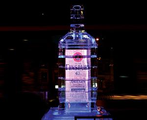 100-литровая ледяная бутылка джина Finsbury